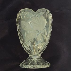 Glass Rose Vase
